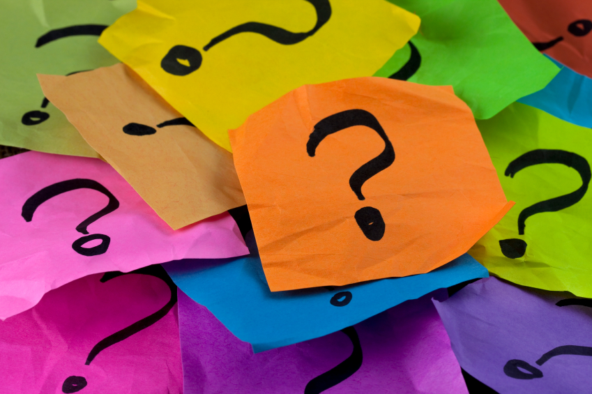 questions or decision making concept