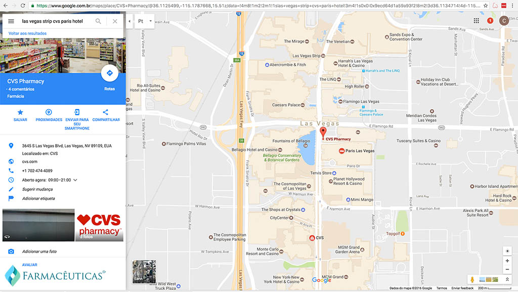 google-maps-cvs-las-vegas