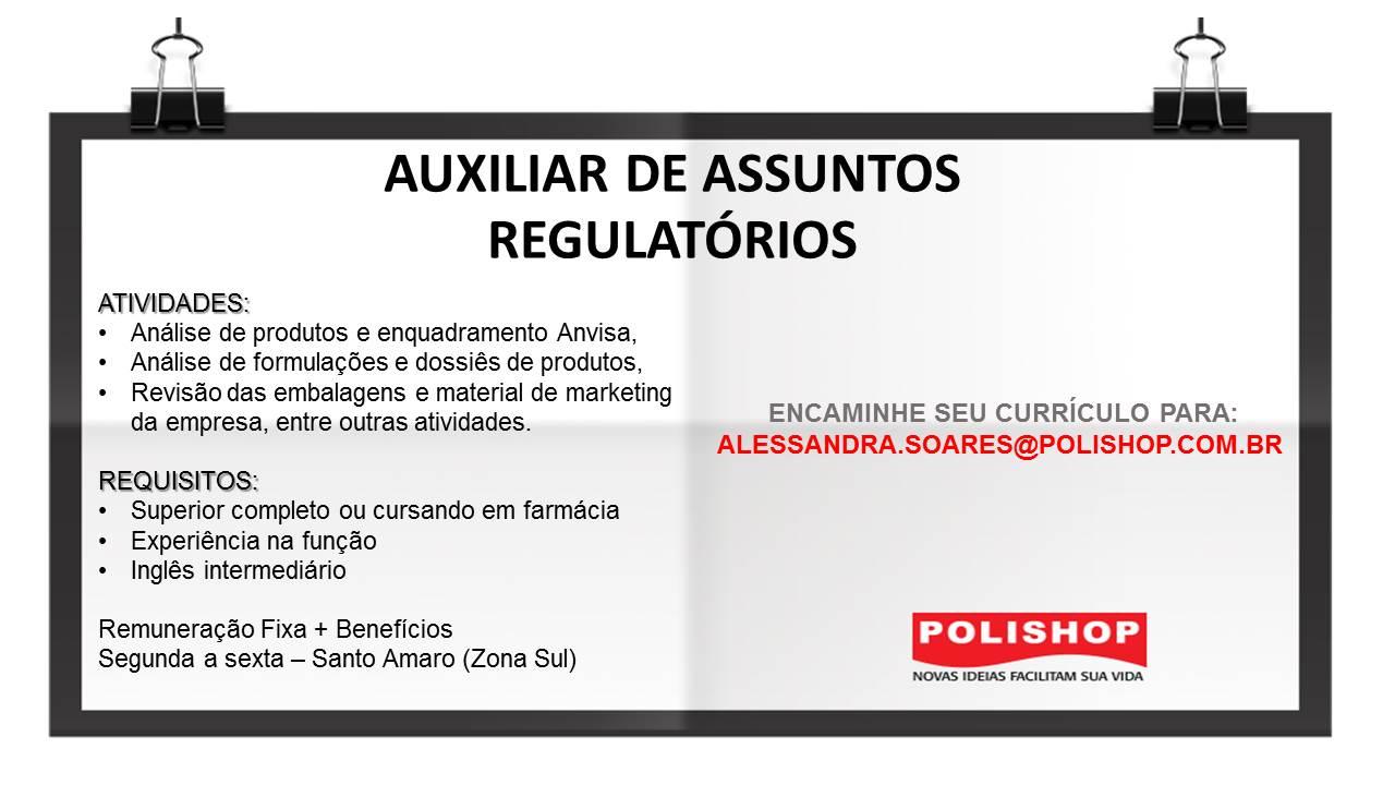 AUXILIAR DE ASSUNTOS REGULATORIOS